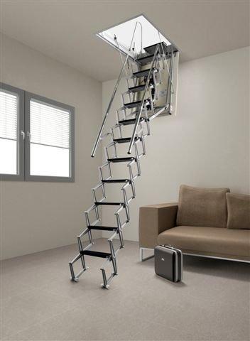 Motorizzate scale retrattili a botola a parete verticale - Scale a parete ...