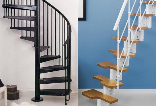 Scale in kit a rampa a chiocciola per interni e esterni roma scalificio - Scale a rampa per interni ...