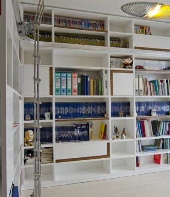 Scale scorrevoli scale da appoggio per soppalchi e - Scale per librerie ...