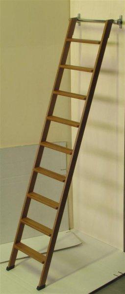 Legno scale da appoggio per soppalchi librerie archivi - Scale per librerie ...