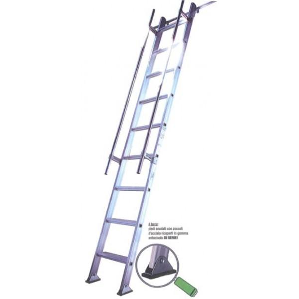 Alluminio con gradini larghi scale da appoggio per - Scale per librerie ...